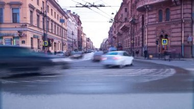 City rush. St. Petersburg. Russia — Stock Video