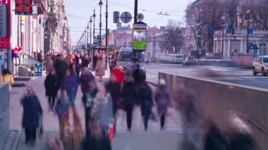 City rush. St. Petersburg. Russia — 图库视频影像