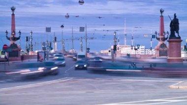 City rush. St. Petersburg. Russia — Stock Video