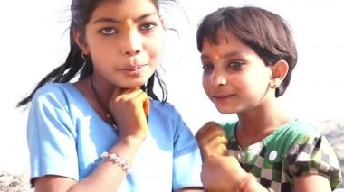 Indian children. India. Radzhastan.Udaypur — Stock Video