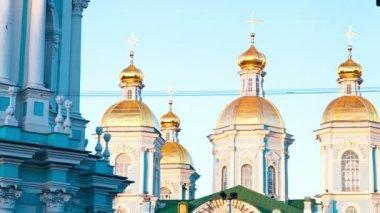 Pravoslavná církev. st petersburg. rusko. timelapse — Stock video