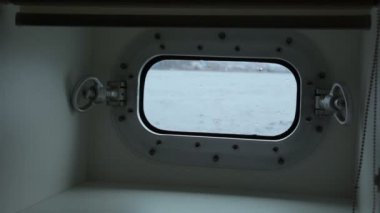 Ship window. St. Petersburg. Russia — Stok video