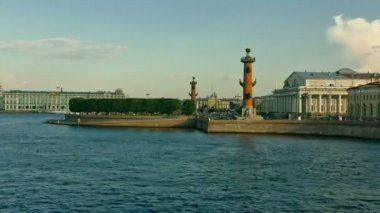 Vasilevsky Island. St. Petersburg. Russia — Stock Video