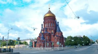 Church of the Epiphany. St. Petersburg. Russia. timelapse — Vídeo de stock