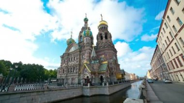 Church of the Savior on the Spilled Blood. St. Petersburg. Russia. timelapse — Vídeo de stock