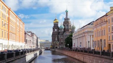 Church of the Savior on the Spilled Blood. St. Petersburg. Russia. timelapse — Stockvideo