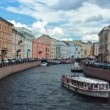 Moika River Embankment. St. Petersburg. Russia. timelapse — Stock Video #49235427