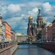 Church of the Savior on the Spilled Blood. St. Petersburg. Russia. timelapse — Stock Video #49240193