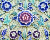 Ceramic multi color flower — Stock Photo