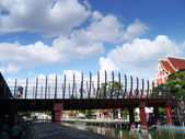 Bridge blue sky. — Stock Photo