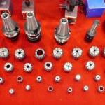 Metal drill tools. — Stock Photo