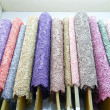 Stock Photo: Colorful fabric .