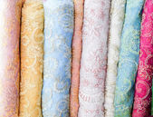Colorful fabric . — Stock Photo