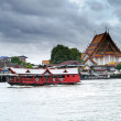 Stock Photo: Temple and boat
