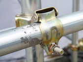 Scaffolding pipe clamp . — Stock Photo