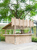 Bamboo booth in park. — Stock Photo