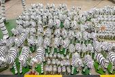 Zebras statues . — Stock Photo