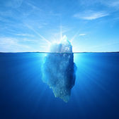 Iceberg under water — Stock Photo