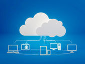 Cloud computing icons — Stock Photo