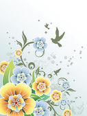 Floral background vector — Stock Vector