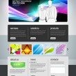 Business template web site — Stock Vector