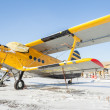 Winter plane AN-2 — Stock Photo