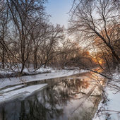 Winter Landscape of river Krynka — ストック写真