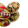 Three hand painted Easter eggs — Stock Photo