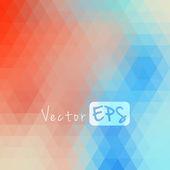 Digital hexagon pixel mosaic, abstract background — Stock Vector