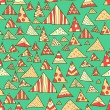 Seamless background, colorful hipster pattern — Stock Vector