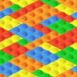 Seamless construction, plastic colourful blocks — Vettoriali Stock
