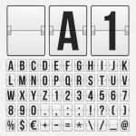 Countdown timer, white color mechanical scoreboard — Stock Vector