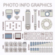 Photo infographics set, part one — Stock Vector