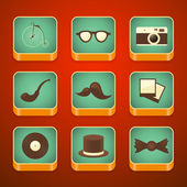 Background for the app icons set, hipster items — Vettoriale Stock