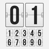 Countdown timer, white color mechanical scoreboard — Stockvector
