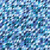 Geometric mosaic pattern from blue triangle — Stock Vector