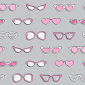 Seamless pattern, women fashion sunglasses — Stock Vector