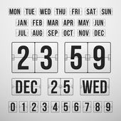 Countdown Timer and Date, Calendar Scoreboard — Vector de stock
