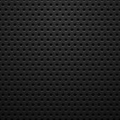 Black metal texture with holes — Stock Vector