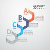 Modern business step origami style options banner — Stock vektor