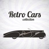 Retro cabriolet sport car, vintage collection — Stock Vector