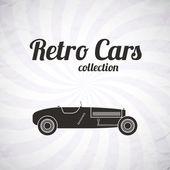 Retro spor yarış otomobili, vintage koleksiyonu — Stok Vektör