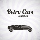 Retro sport racing car, vintage collection — Stok Vektör