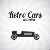 Retro sport racing car, vintage collection — Stock Vector