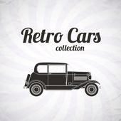 Retro car, vintage collection — Stock Vector