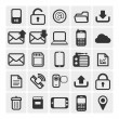 25 vector icons — Vettoriali Stock