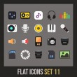 Flat icons set — Stock Vector #35214121