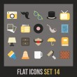 Flat icons set — Stock Vector