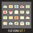 Flat icons set — Stockvectorbeeld