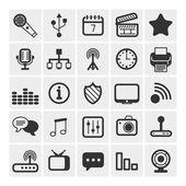 25 iconos vectoriales — Vector de stock